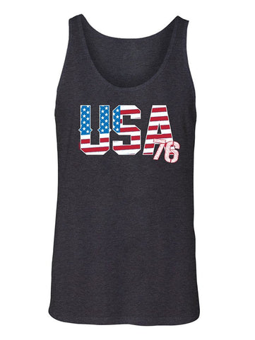 Manateez Men's USA 76 American Flag Tank Top
