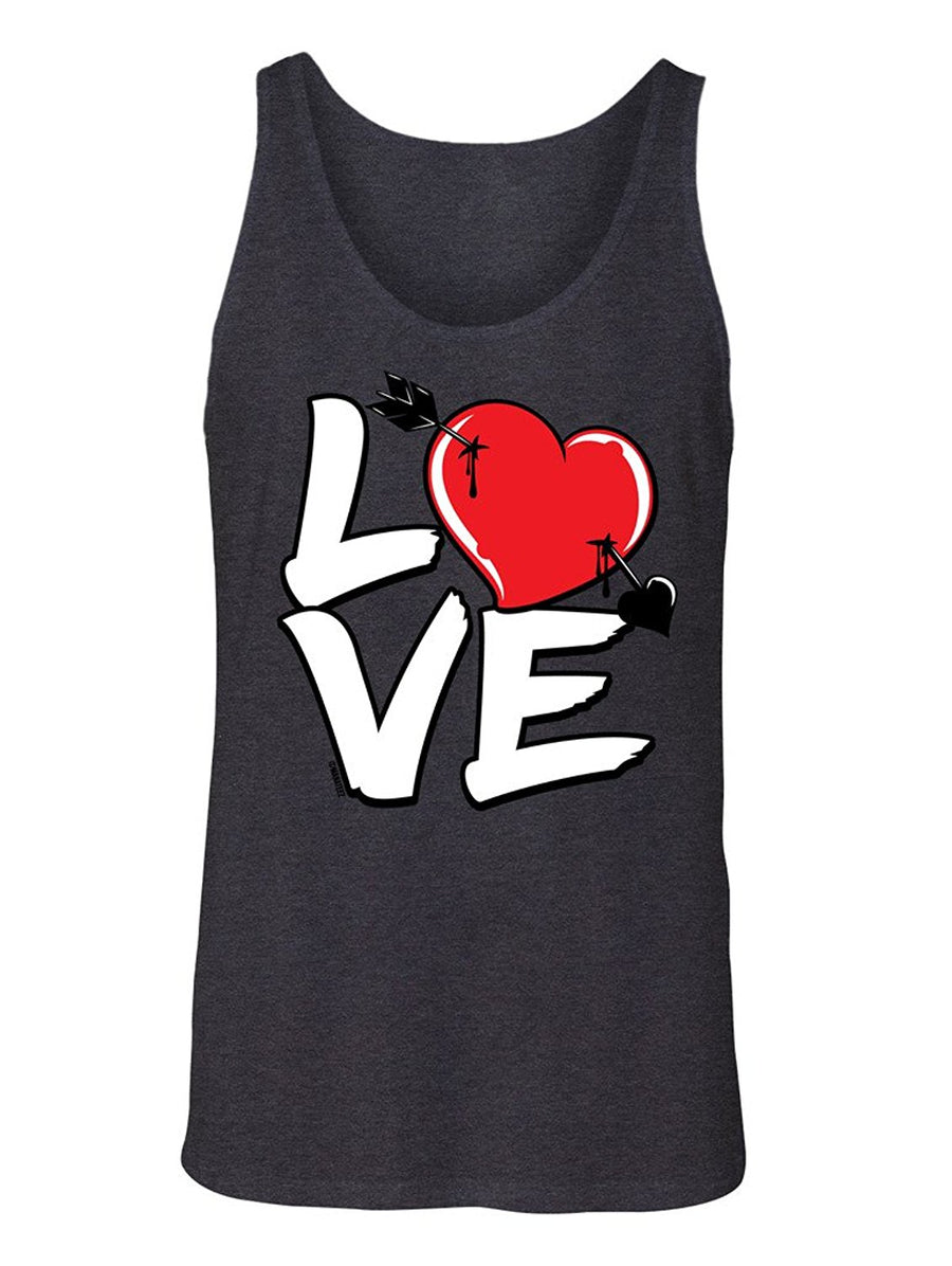 Manateez Men's Love Cupid's Arrow to the Heart Valentine's Day Tank Top