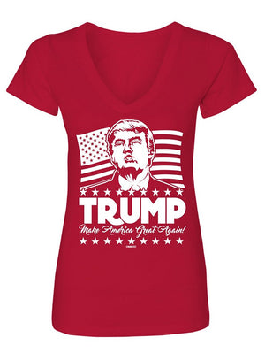 Manateez Women's Trump Make America Great Again V-Neck