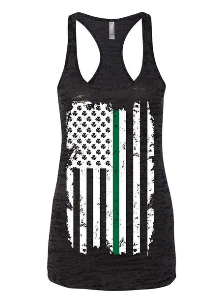 Manateez Women's St. Patrick's Day Irish American Flag Burnout