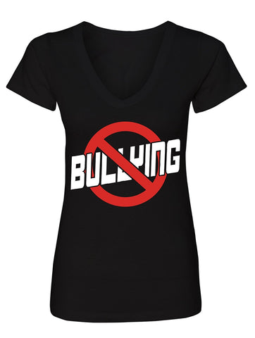 Manateez Women's Bullying Free Zone No Bullying V-Neck