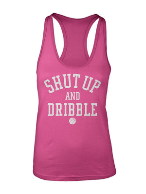 Manateez Women's Shut Up and Dribble Racer Back Tank Top