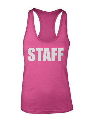 Manateez Women's STAFF Racer Back Tank Top