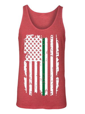Manateez Men's St. Patrick's Day Irish American Flag Tank Top