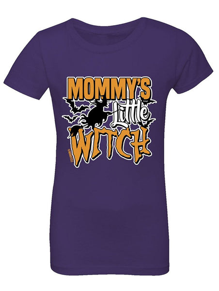 Manateez Girls Mommy's Little Witch Tee Shirt