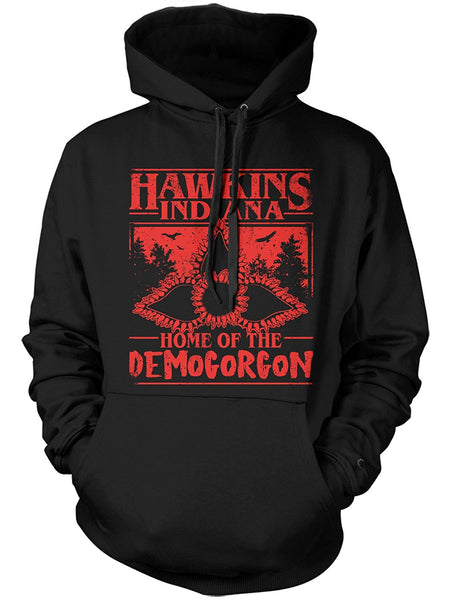 Manateez Hawkins Indiana Home Of The Demogorgon Hoodie