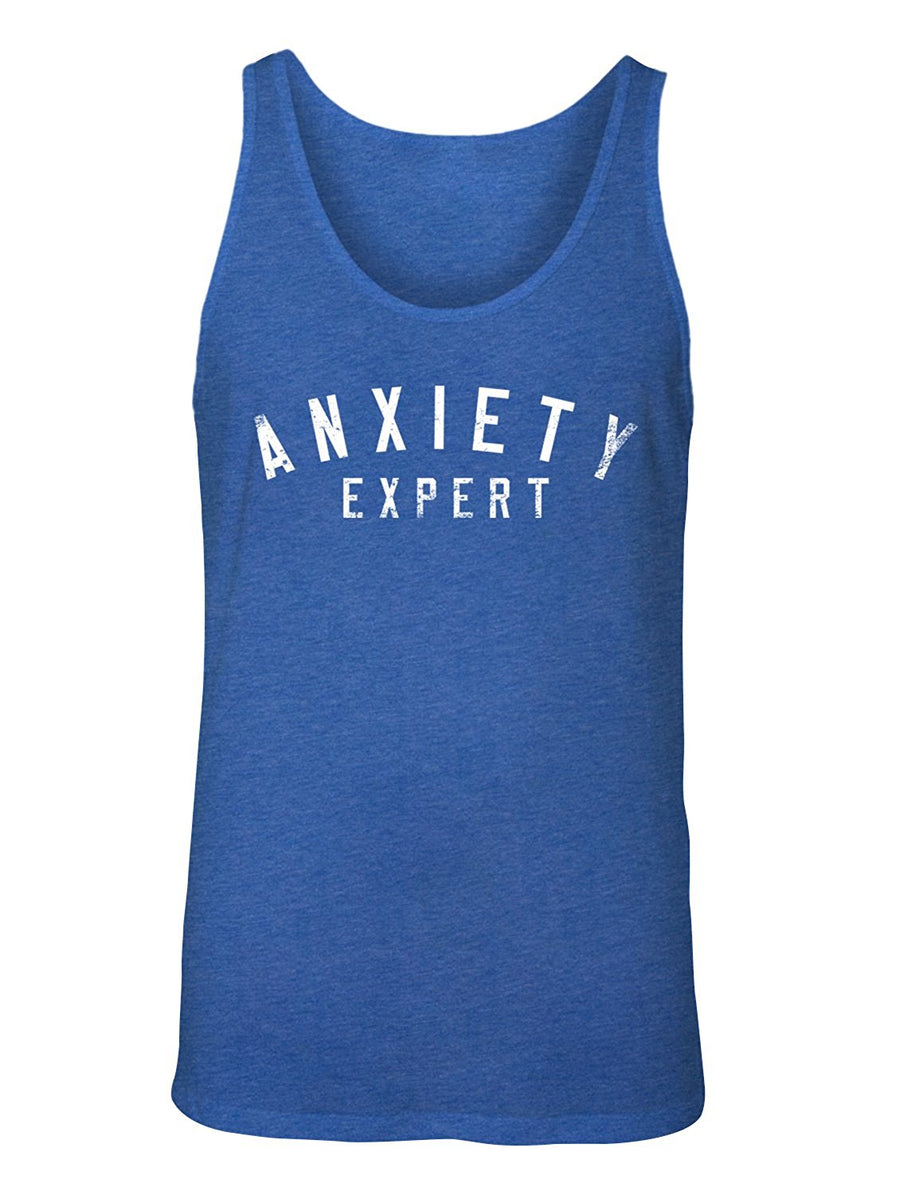 Manateez Men's I Worry About Too Much Anxiety Expert Tank Top