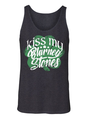 Manateez Men's ST. Patrick's Day Kiss My Blarney Stones Tank Top