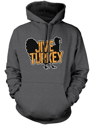 Manateez Thanksgiving Dinner Jive Turkey Hoodie Large Dark Heather Gray