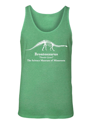 Manateez Men's Brontosaurus Thunder Lizard Science Museum Of Minnesota Tank Top
