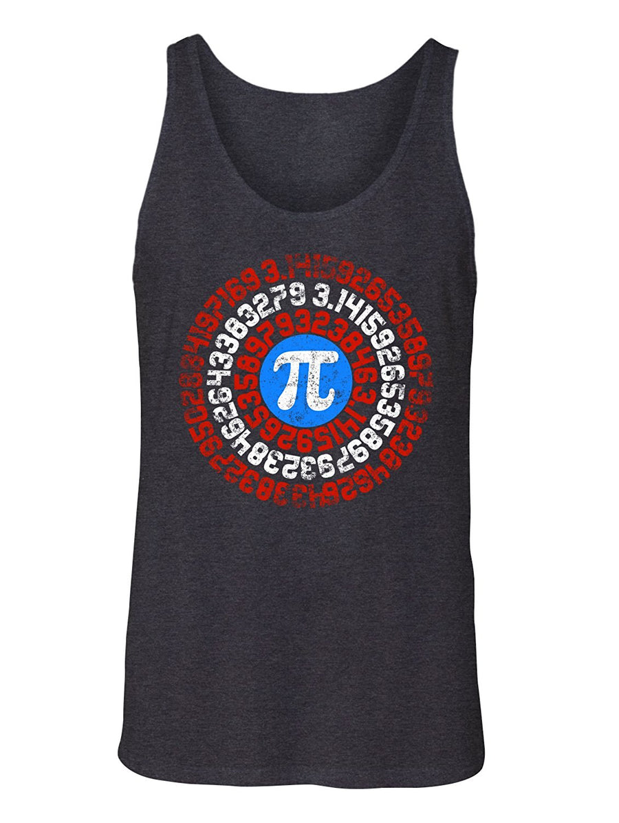 Manateez Men's Captain Shield Captain Pi Tank Top
