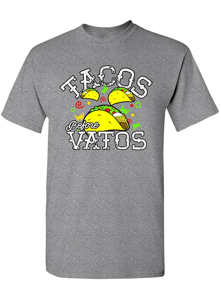 Manateez Men's Cinco de Mayo Tacos Before Vatos Tee Shirt