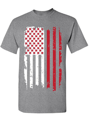 Manateez Men's Polish American Flag Design Tee Shirt