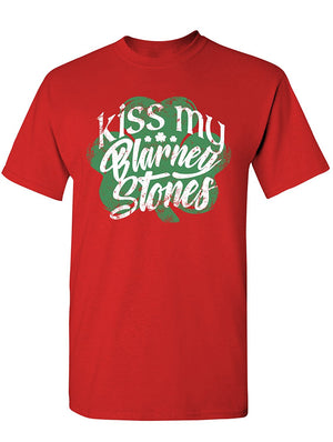 Manateez Men's ST. Patrick's Day Kiss My Blarney Stones Tee Shirt
