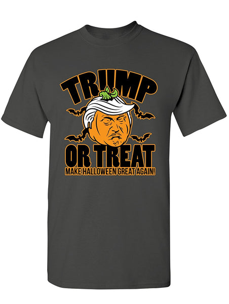 Manateez Men's Scary Halloween Pumpkin Donald Trump Trick or Treat Tee Shirt