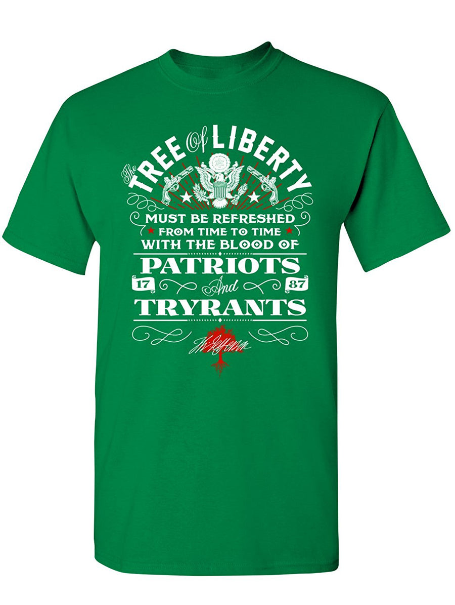 Manateez Men's The Blood of Patriots and Tyrants Tee Shirt