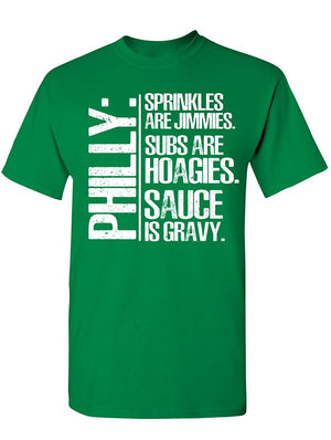 Manateez Men's Philly Slang Explained Tee Shirt
