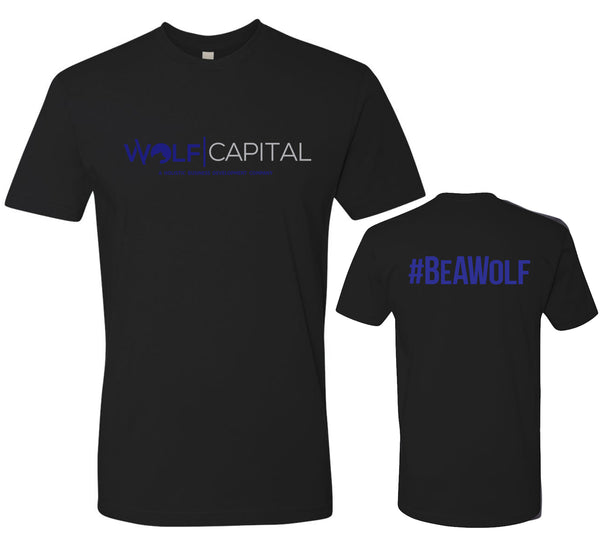 Classic Original Logo Wolf Capital Mens Crew Neck Tee Design 1