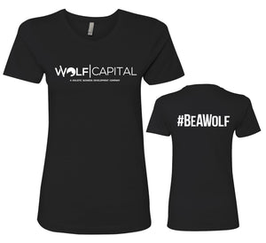 Wolf Capital Ladies Crew Neck Tee Design 2