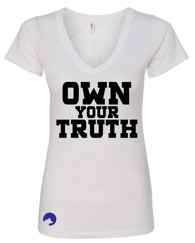Wolf Capital Mantra Own The Truth Ladies V Neck Tee
