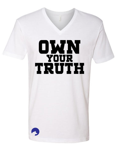 Wolf Capital Mens Mantra Own The Truth V Neck