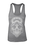 Gym Rat Sugar Skull Racer Back Tank