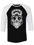 Gym Rat Sugar Skull Unisex Raglan