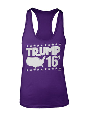 Trump 16' USA Ladies Racer Back Tanks