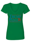 Trump Pence 16' Ladies V-Neck