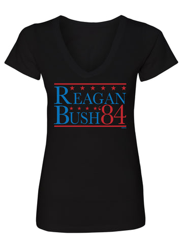Reagan Bush 84' Ladies V-Neck
