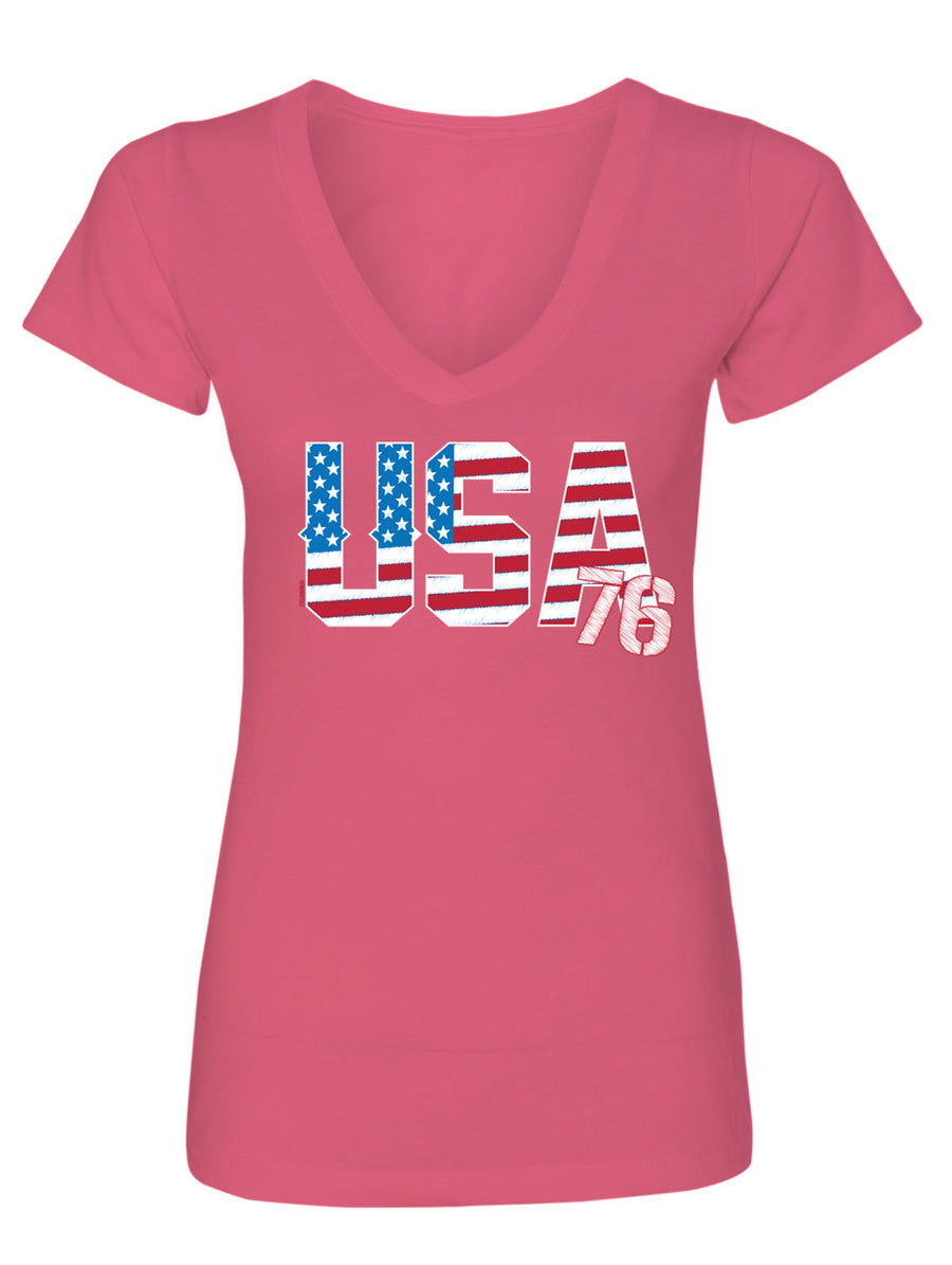 USA 76' Country Ladies V-Neck