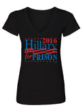 Hillary For Prison Ladies V-Neck