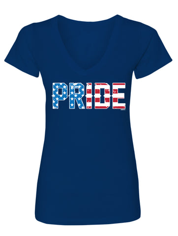 USA Pride Country Ladies V-Neck