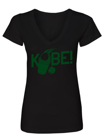 Manateez Ladies V-Neck St. Patrick's Day Kobe! Tee