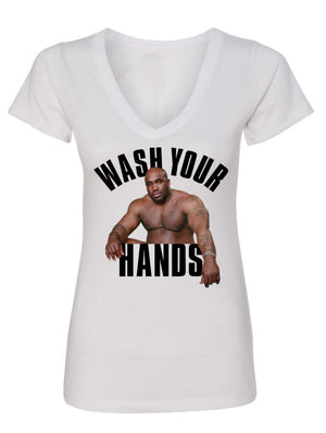 Manateez Wash Your Hands Women's V-neck