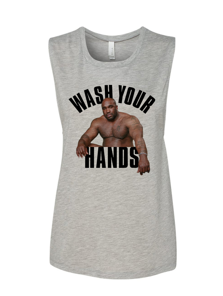 Manateez Wash Your Hands Women's Muscle Tank