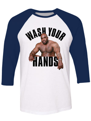 Manateez Wash Your Hands Men's Raglan Tee