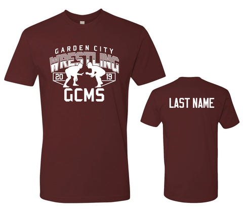 GCMS Wrestling Youth and Adult Tee 3600 With Name