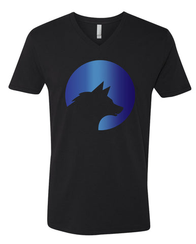 Wolf Capital Big Wolf Mens V Neck Tee Design 5