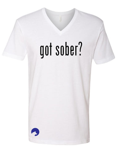 Wolf Capital Mens Mantra Got Sober? V Neck