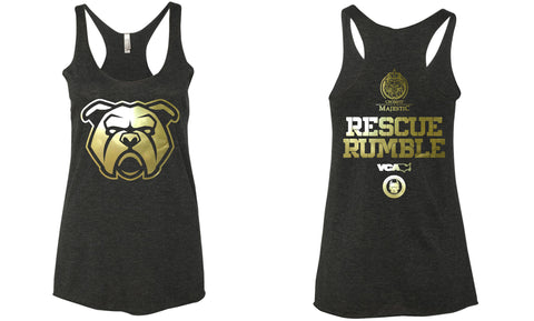 Rescue Rumble Ladies Triblend Racerback Tee