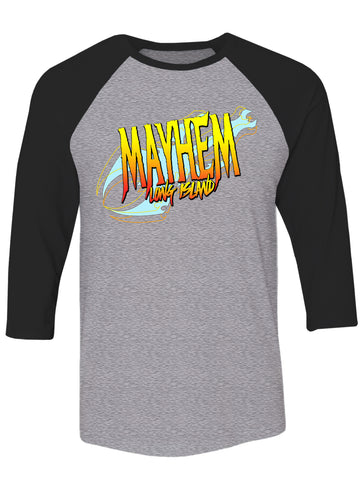 Mayhem 3/4 Sleeve Raglan Tee