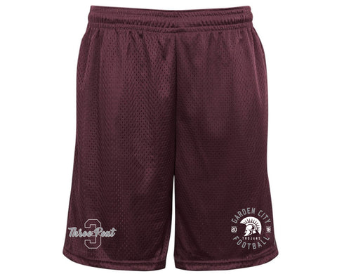 Unisex Trojans Garden City Football THREEPEAT Shorts With Pockets 7219