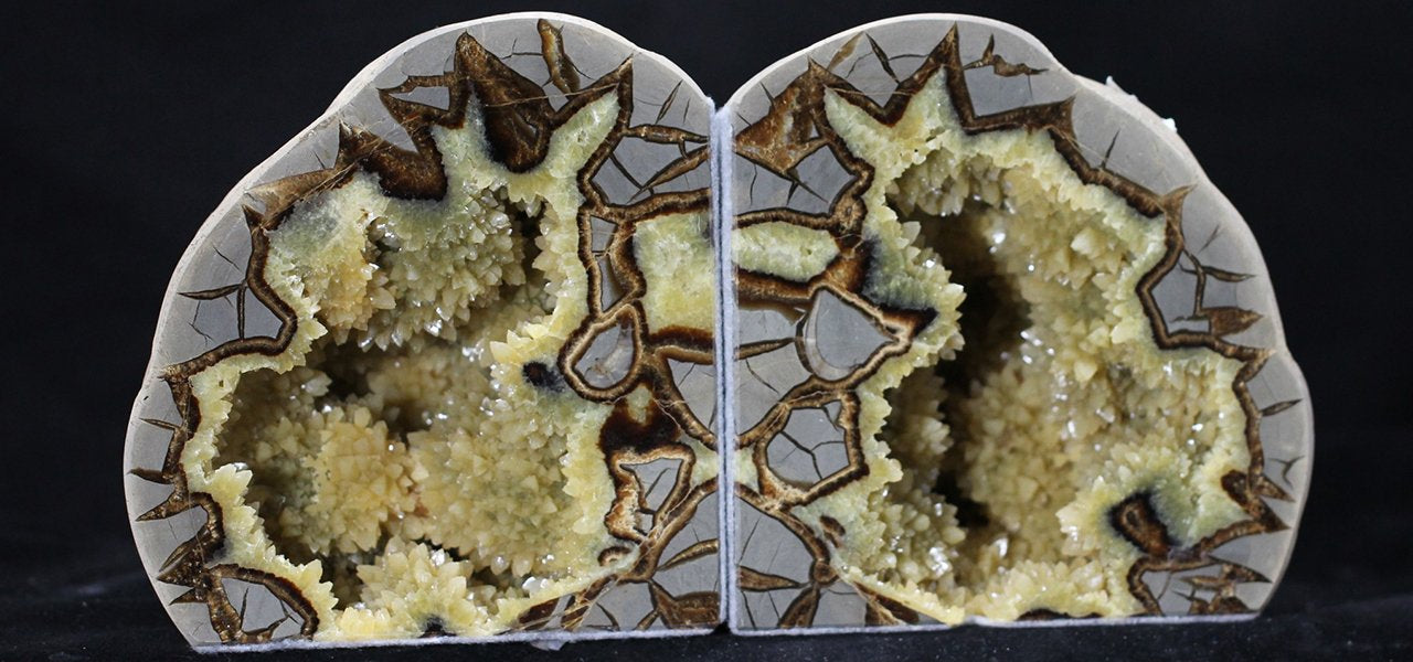 Septarian Bookend Set