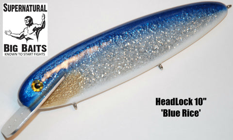 "HeadLock 10"" Custom Blue Rice"