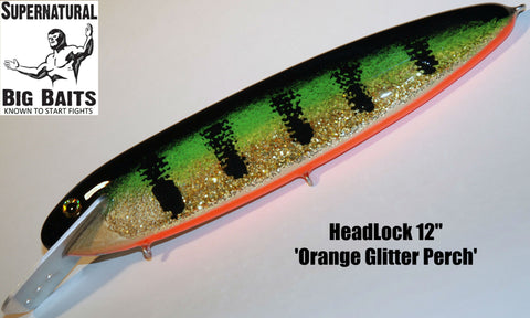 "HeadLock 12"" Standard Orange Glitter Perch"