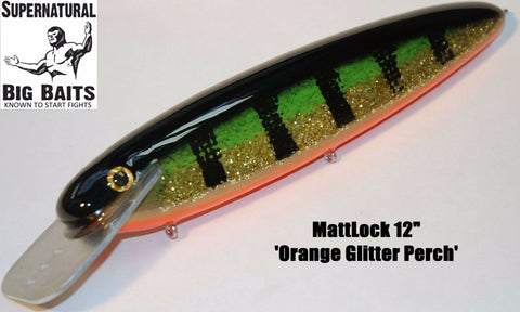 "MattLock 12"" Standard Orange Glitter Perch"