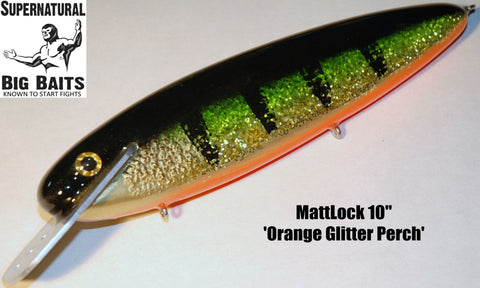 "MattLock 10"" Standard Orange Glitter Perch"