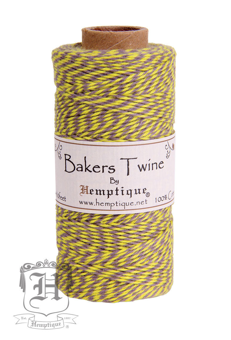 cotton bakers twine carnival yellow gray 2x2 ply hemptiquedev