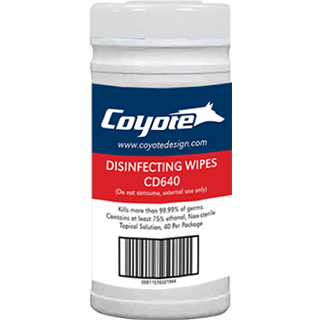 "Disinfecting Travel Wipes (40 - 4"" x 4"" wipes per Pack)"